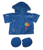 Blue Raincoat w/Boots 16""