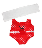 Ladybug Swimsuit and Towel 16""