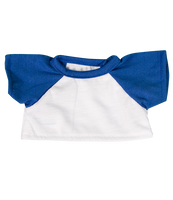 White T Shirt with Royal Blue Sleeves 8""