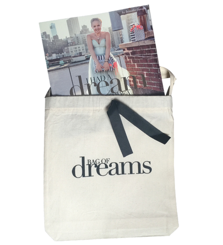 "Bag-all Book in ""Bag of dreams"" cotton pouch"