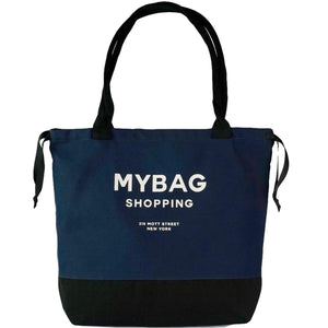 World Traveler Tote Navy - Beige Print - Bag-all