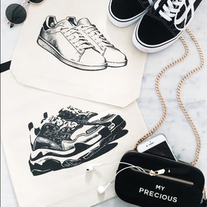 White Sneaker Shoe Bag - Bag-all