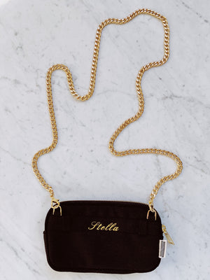 "Mini organizing purse with ""stella"" monogrammed on the back."