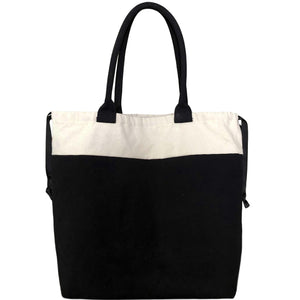 World Traveler Blank Tote Bag - Black - Bag-all