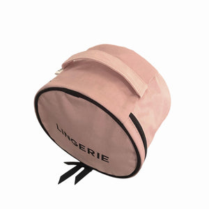 Round Lingerie Case Pink handle view