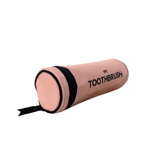 Toothbrush case for travel in pink.