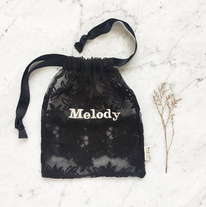 Lace Bag - Medium Black - Bag-all