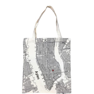 Manhattan Map Tote Bag - Bag-all