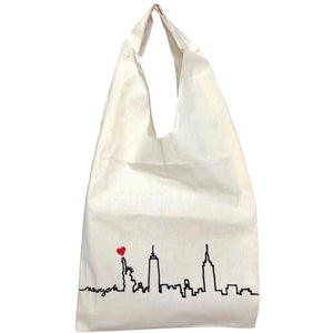 Manhattan skyline tote bag.