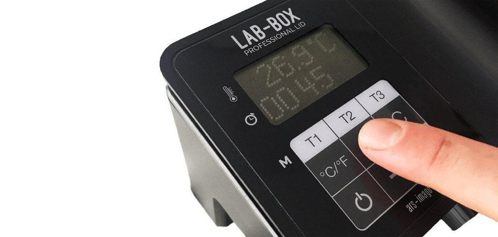 LAB-BOX Professional Lid (Built-in Timer/Thermometer)