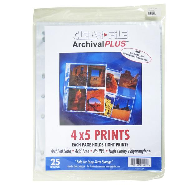 ClearFile 4x5 Negative Sleeves (25 Sheets)