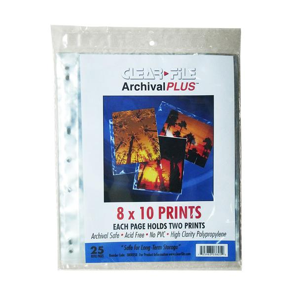 ClearFile 8x10 Negative Sleeves (25 Sheets)