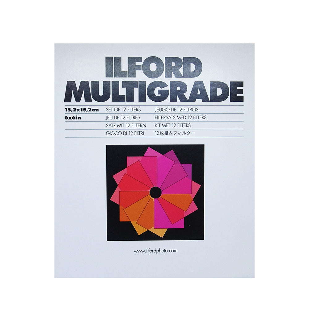 ILFORD Multigrade Filters 15.2X15.2cm set of 12 filters