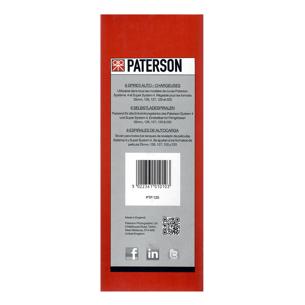 Paterson Auto Load Reel (Pack of 6)
