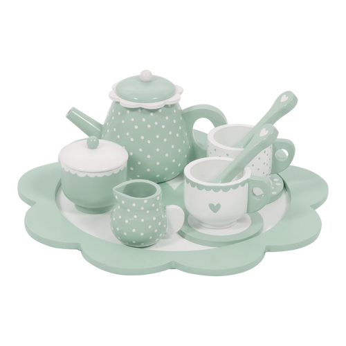 Wooden Tea Set - Mint - Little Dutch