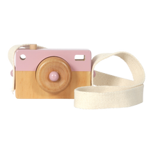 Load image into Gallery viewer, Wooden Toy Camera - Pink - Little Dutch