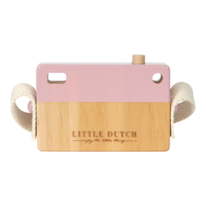 Wooden Toy Camera - Pink - Little Dutch