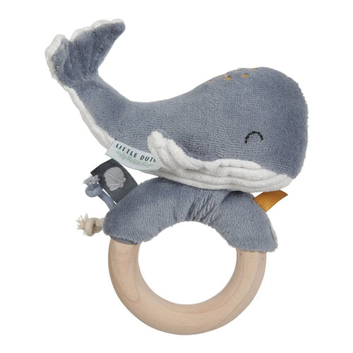 Whale Ring Rattle - Little Dutch