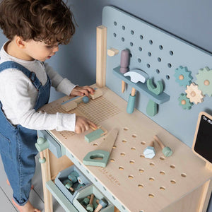 Wooden Workbench - Mint - Little Dutch