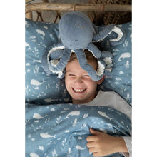 Load image into Gallery viewer, Cuddly Toy Octopus - Ocean Blue - Little Dutch