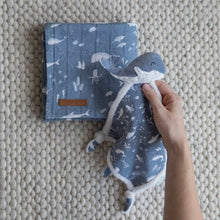 Load image into Gallery viewer, Cuddle Cloth Whale - Ocean Blue - Little Dutch