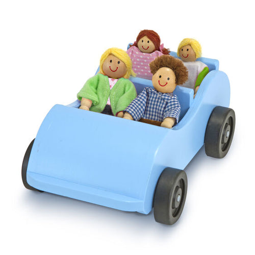 Wooden Car & Pose-able Passengers - Melissa & Doug