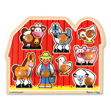 Load image into Gallery viewer, Large Farm - Jumbo Knob Puzzle - Melissa & Doug