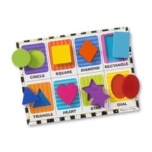 Load image into Gallery viewer, Shapes chunky puzzle - Melissa & Doug