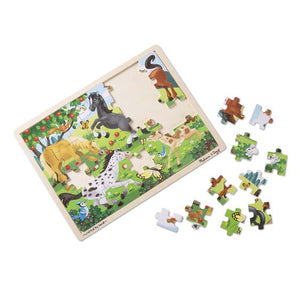 Frolicking Horses Jigsaw Puzzle - 48 Pieces - Melissa & Doug