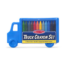 Load image into Gallery viewer, Truck Crayon Set - 12 Colours - Melissa & Doug