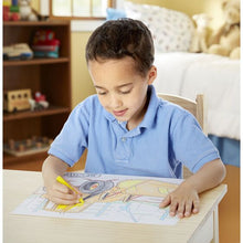 Load image into Gallery viewer, Jumbo 50-Page Kids' Colouring Pad - Space, Sharks, Sports, and More - Melissa & Doug
