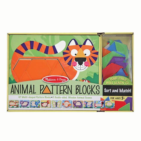 Animal Pattern Blocks Set - Melissa & Doug