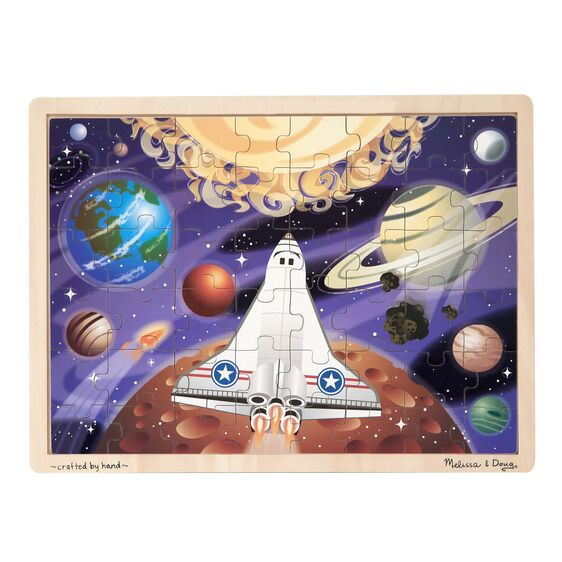 Space Voyage Wooden Jigsaw Puzzle - 48 Pieces - Melissa & Doug