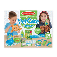 Load image into Gallery viewer, Feeding & Grooming Pet Care Play Set - Melissa & Doug