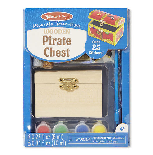 Decorate Your Own - Wooden Pirate Chest