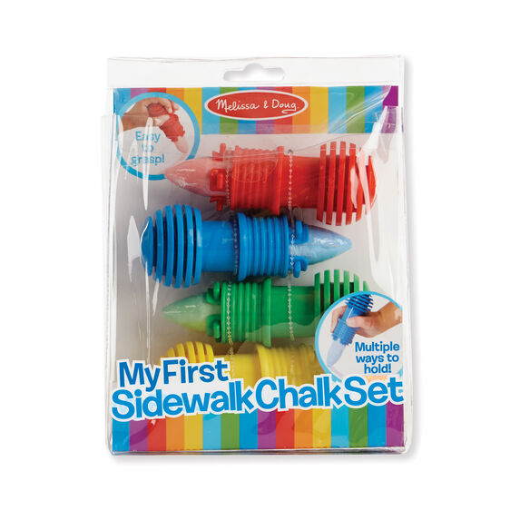 My First Sidewalk Chalk Set - Melissa & Doug