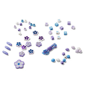 Sparkling Flowers Wooden Bead Set - Melissa & Doug