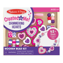 Load image into Gallery viewer, Shimmering Hearts Wooden Bead Set - Melissa & Doug