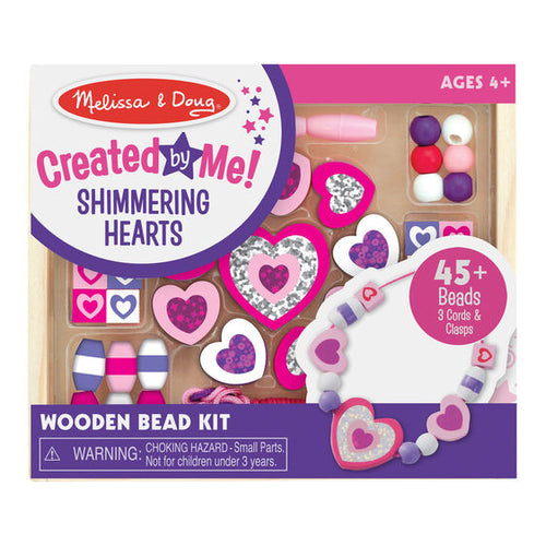 Shimmering Hearts Wooden Bead Set - Melissa & Doug