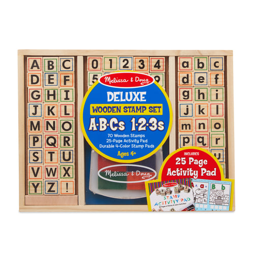 Wooden ABC Activity Stamp Set - Melissa & Doug