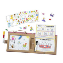 Load image into Gallery viewer, Natural Play: Play, Draw, Create Reusable Drawing & Magnet Kit - Princesses - Melissa & Doug