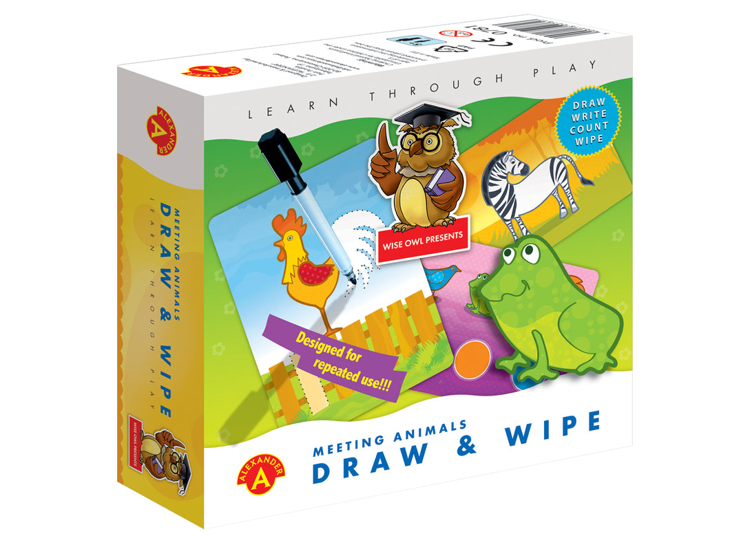 Draw & Wipe - Meeting Animals