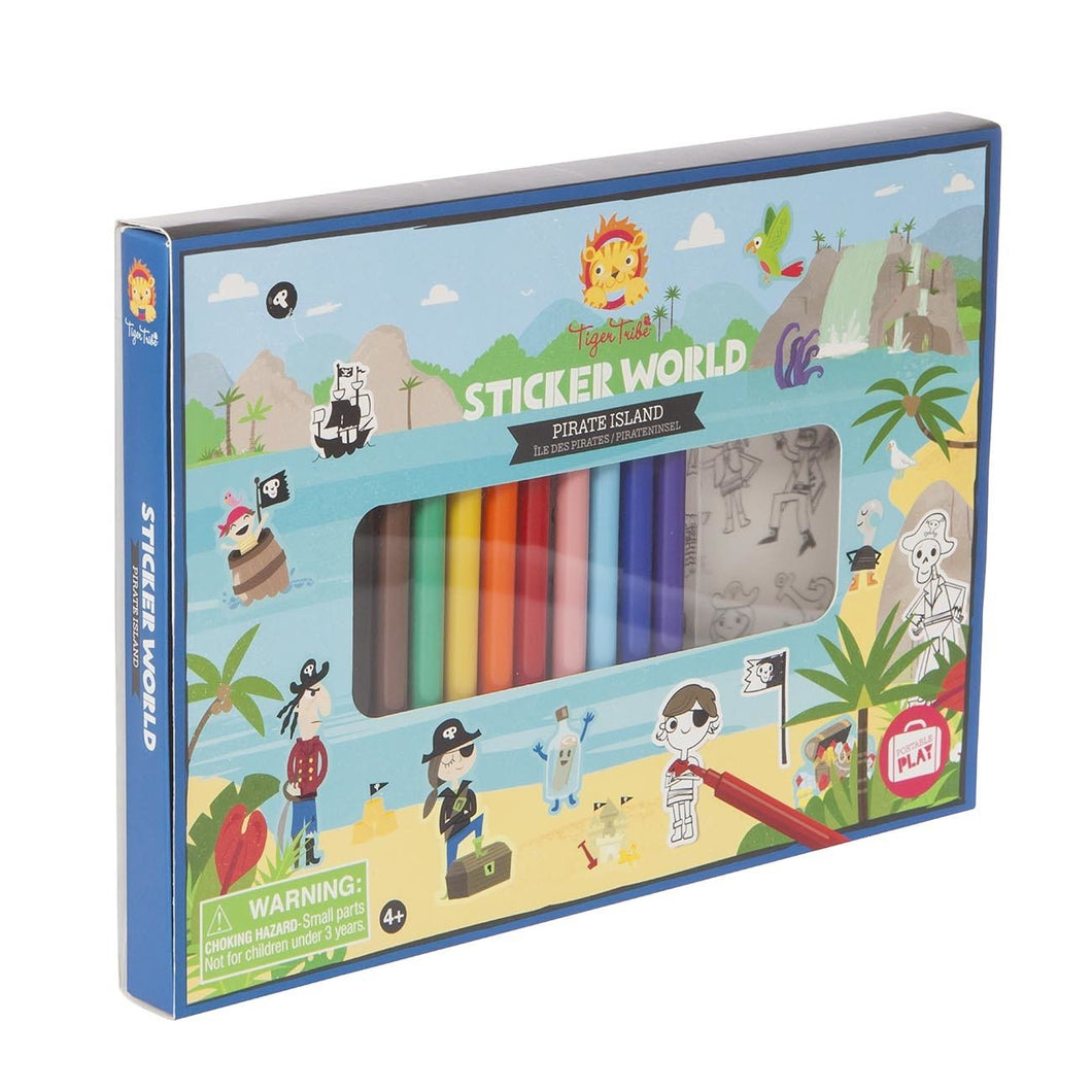 Sticker World - Pirate Island - Tiger Tribe