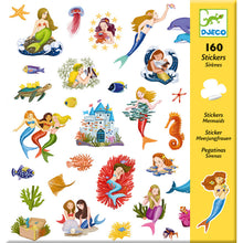 Load image into Gallery viewer, Mermaid Stickers (160 pc) - Djeco