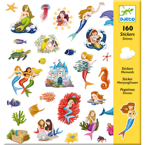 Mermaid Stickers (160 pc) - Djeco