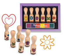 Load image into Gallery viewer, Wooden Stamp Set - Happy Handles - Melissa & Doug