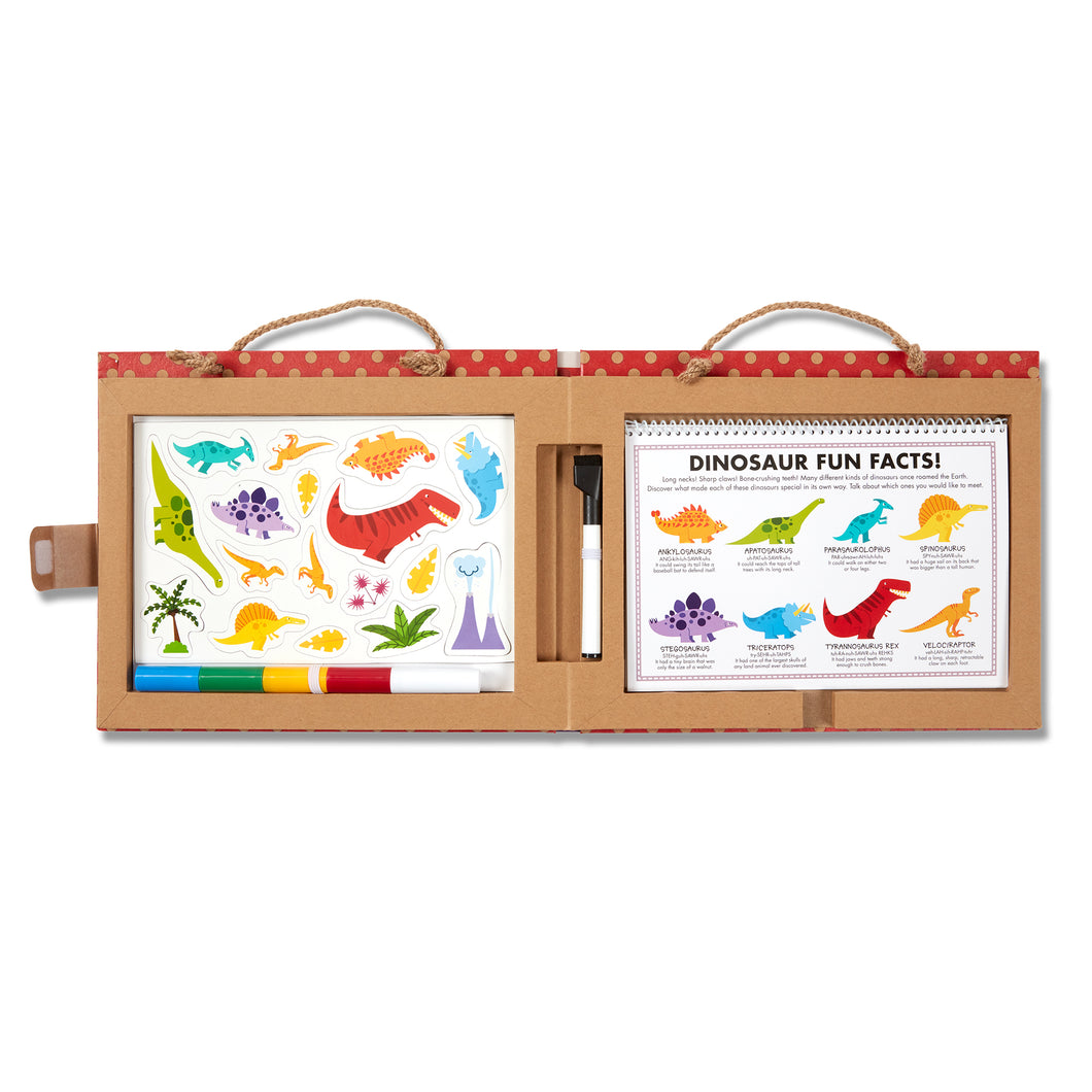 Natural Play: Play, Draw, Create Reusable Drawing & Magnet Kit - Dinosaurs - Melissa & Doug