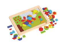 Load image into Gallery viewer, Magnetic Wooden Shapes Puzzle - Tooky Toy