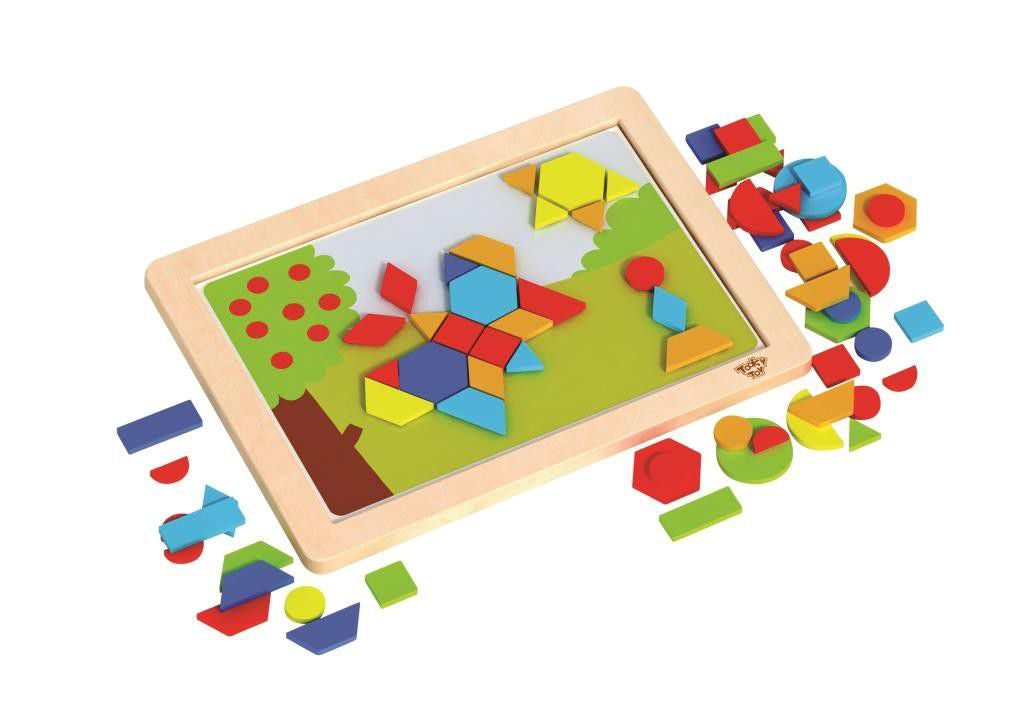 Magnetic Wooden Shapes Puzzle - Tooky Toy