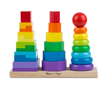 Load image into Gallery viewer, Wooden Geometric Stacker - Melissa & Doug